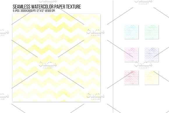 Seamless Watercolor Chevron Pattern
