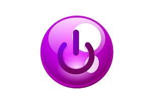 Power button icon, start symbol