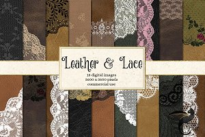 Leather and Lace Digital Paper