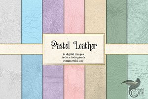 Pastel Leather Digital Paper