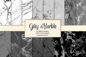 Gray Marble Digital Paper