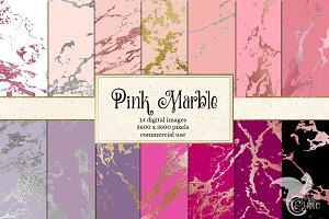 Pink Marble Digital Paper