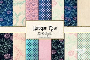 Baroque Rose Digital Paper