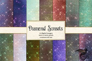 Diamond Sunsets Digital Paper