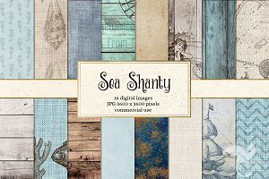 Sea Shanty Nautical Backgrounds