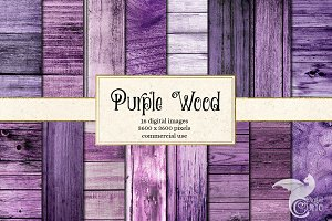 Purple Wood Textures