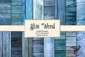 Blue Wood Textures