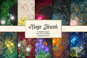 Magic Flower Backgrounds
