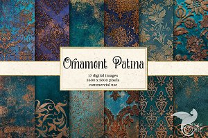 Ornament Patina Backgrounds