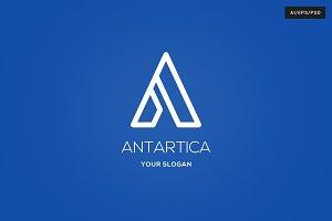 Antartica Letter A Logo