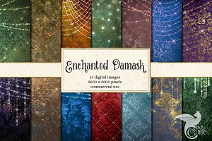 Enchanted Damask Backgrounds