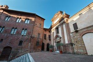Siena street scene, Tuscany, Italy