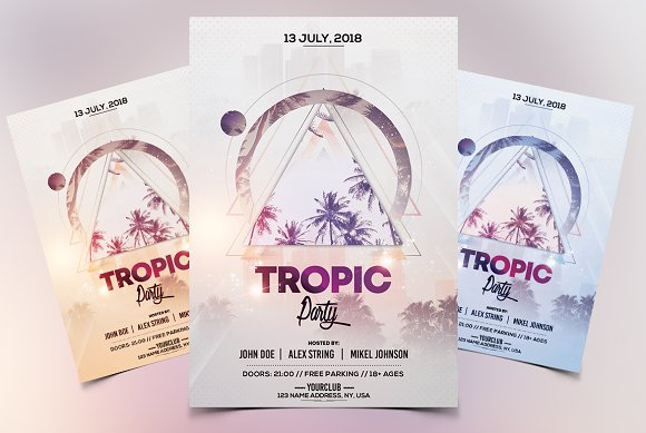 Tropic Party PSD Flyer Template