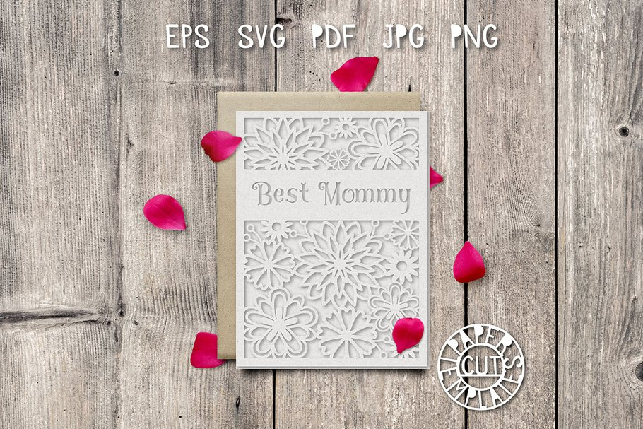 greeting card template for paper cut  creative card