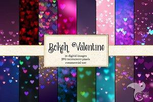 Bokeh Valentine Digital Paper