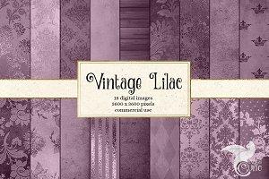 Vintage Lilac Digital Paper
