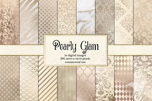 Pearly Glam Digital Paper
