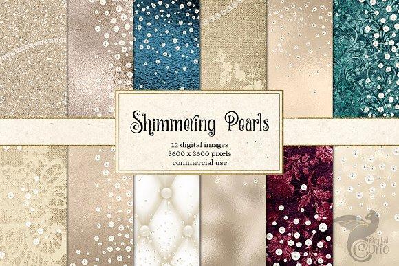 Shimmering Pearl Backgrounds