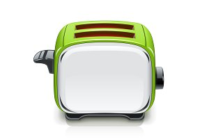 Green Toaster. Kitchen equipment