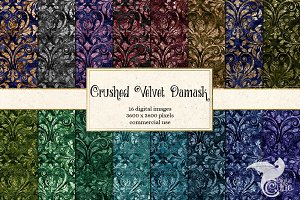Crushed Velvet Damask Textures