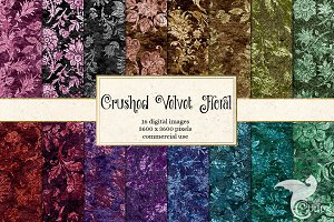 Crushed Velvet Floral Digital Paper