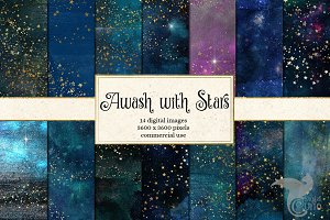 Awash with Stars Digital Paper
