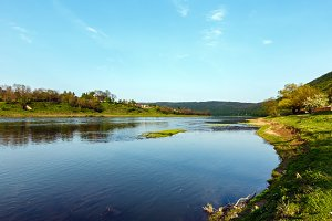 Spring Dnister river, Ukraine