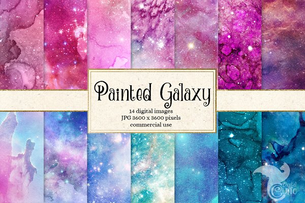 Painted Galaxy Textures
