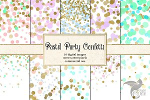 Pastel Party Confetti Backgrounds