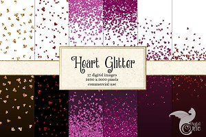 Heart Glitter Digital Paper