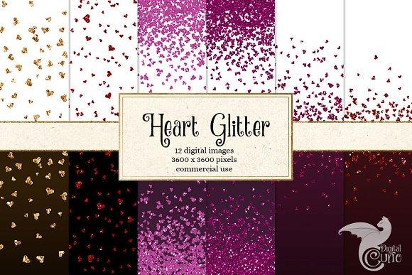 Heart Glitter Digital Paper