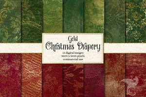 Gold Christmas Drapery Textures