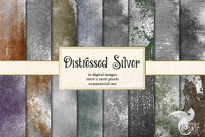 Distressed Silver Textures