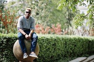 Stylish african american boy
