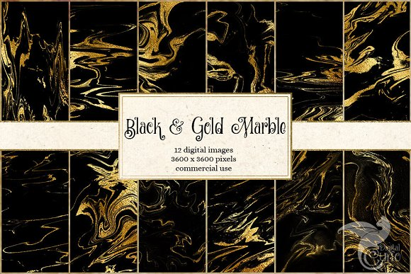 Black and Gold Marble Textures