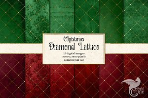 Christmas Diamond Lattice Papers
