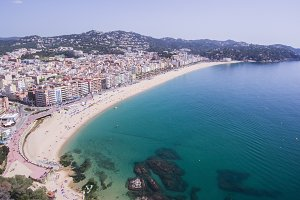 Aerial photo of Lloret de Mar