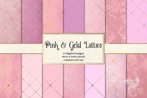 Pink and Gold Diamond Lattice