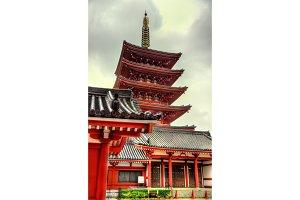 Five-Storey Pagoda of Senso-ji Temple, Asakusa,Tokyo
