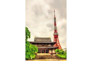 Tokyo Tower above Zojo-ji Temple