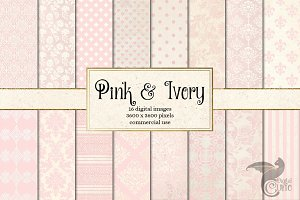 Pink and Ivory Digital Paper