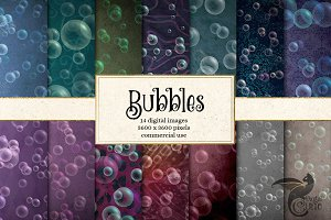 Bubble Digital Paper Backgrounds