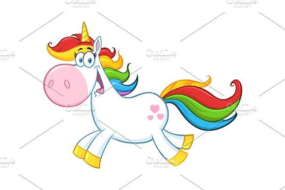 Cute Magic Unicorn Character