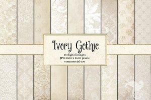 Ivory Gothic Digital Paper