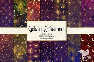 Golden Firmament Digital Paper