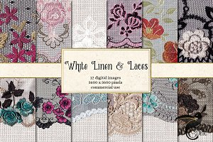 White Linen and Laces Backgrounds