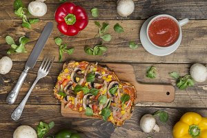 Healthy pizza handmade