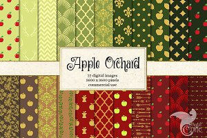 Apple Orchard Digital Paper