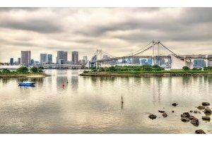 Tokyo Bay with the Rainbow Bridge