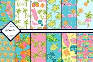 Florida Digital Paper / Patterns